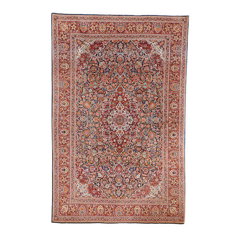 A Kashan carpet, Central Persia, 336cm x 221cm