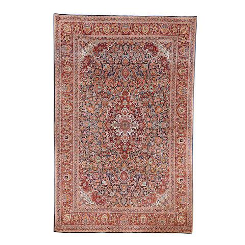 A Kashan carpet, Central Persia, 336cm x 221cm
