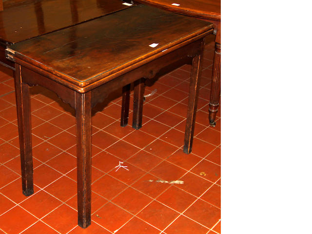 A George III mahogany card table,