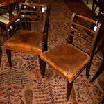 A set of eight early-mid 19th century mahogany dining chairs