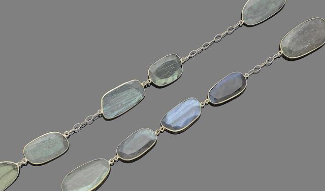 A labradorite necklace