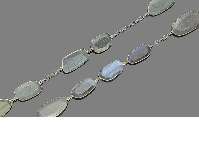 A labradorite necklace