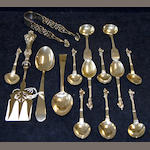 A set of nine apostle teaspoons,