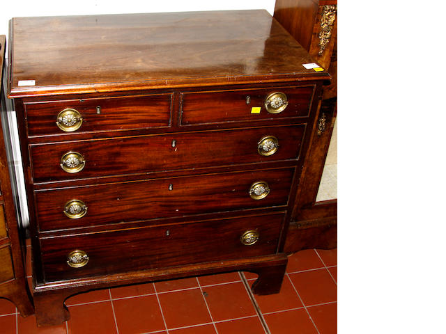 A George III mahogany chest,
