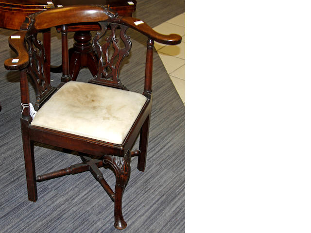 An 18th Century style corner chair,