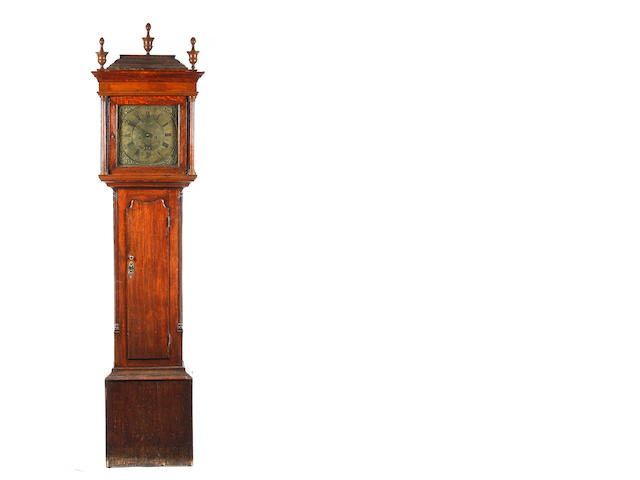 A George III Oak 8 day longcase clock Jonathan Lees, Bury c.1730-1785