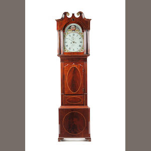An early 19th century 8 day mahogany longcase clock with moonphase James Condliff of Liverpool