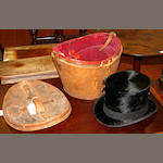 A black silk top hat by 'Lincoln Bennett & Co',