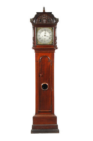 A mid 18th Century 30 hour oak longcase clock S. Collier of Eccles, with alterations