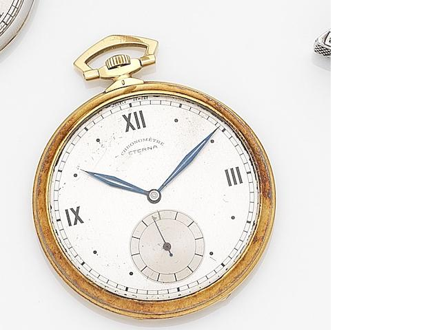 Eterna. An 18ct gold keyless wind open face pocket watch Case No.3038477, Movement No.2476565, Circa 1930