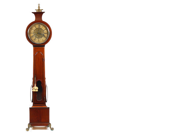 19th  century 8 day mahogany long case clock horloge de parquet