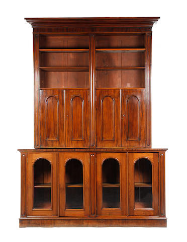A mid-Victorian library bookcase