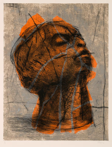 William Joseph Kentridge (South African, born 1955) 'Head'
