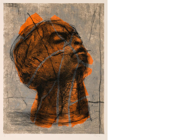 William Joseph Kentridge (South African, born 1955) Orange Head no.12/15