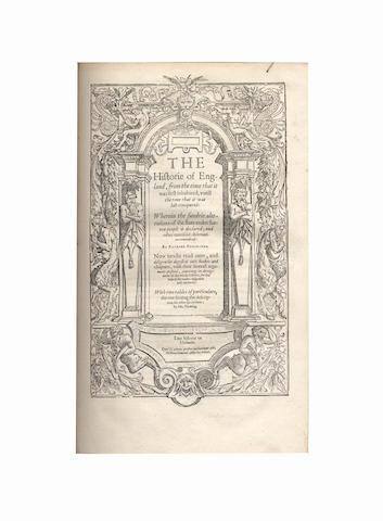 HOLINSHED (RAPHAEL)] The First and Second [ and Third] Volumes of Chronicles, IN 2 VOL., 1587