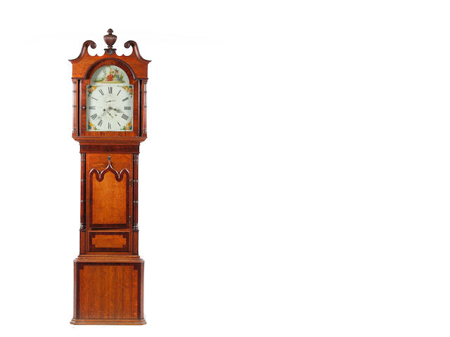 A 19th century mahogany 8-day longcase clock Scales of Kendal.