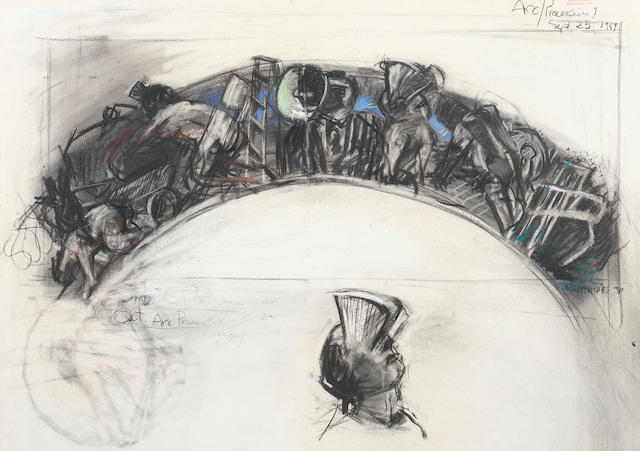 William Joseph Kentridge (South African, born 1955) 'Arc/Procession 9'