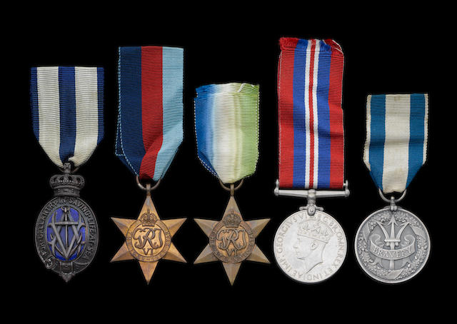 A Posthumous Second World War Albert Medal group of five to Dr.W.Chisholm, Merchant Navy,