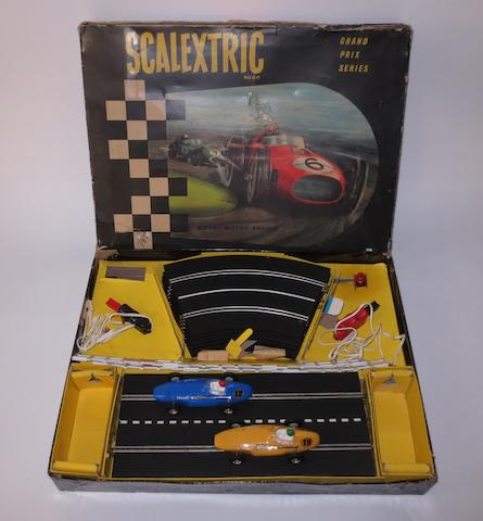 A boxed Scalextric Grand Prix slot-car racing set, circa 1961,