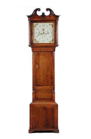 A Coleman, Carnarvon oak longcase clock