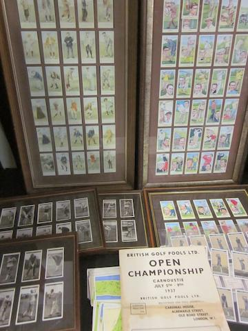 Golf cigarette cards and coupons
