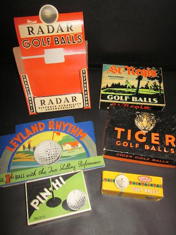 Golf balls and display items