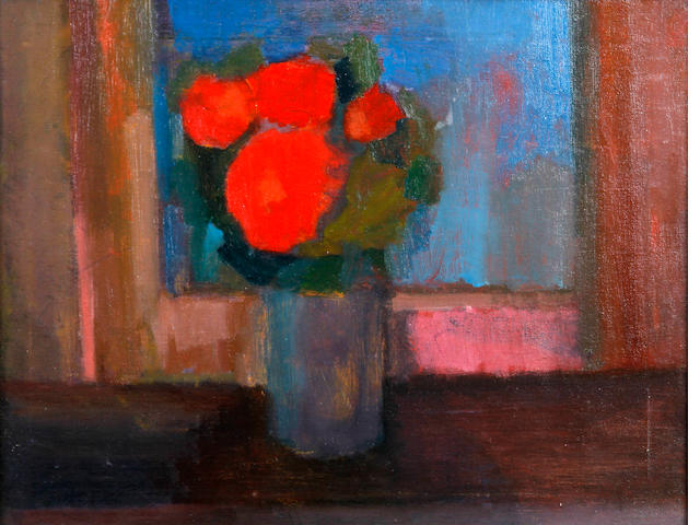 Will Roberts (British, 1910-2000) 'Roses in a Glass'