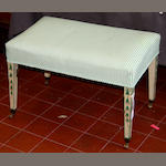 A George III painted stool