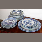A group of twenty three various blue and white plates, mostly Chinese
