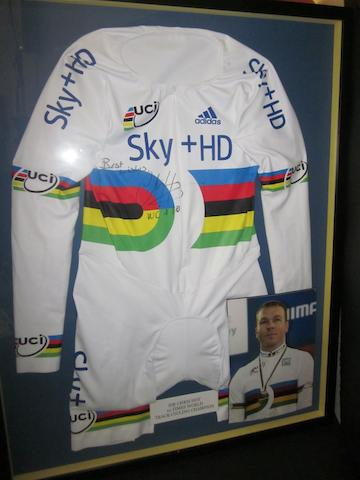 Sir Chris Hoy Team Sky issued cycling suit, hand signed