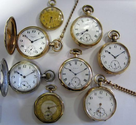 A lot of eight various pocket watches