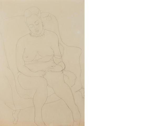 Sir Matthew Smith (1879-1959) Female Nude
