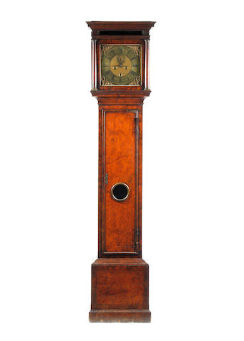 A fine early 18th century walnut cased 8 day 5 pillar longcase clock no. 250, Joshua Wilson, London.  1688-1733 Clockmakers Company