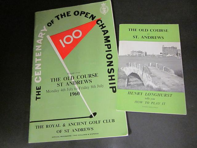The Centenary of the Open Championship 1960 programme and Henry Longhust pamphlet