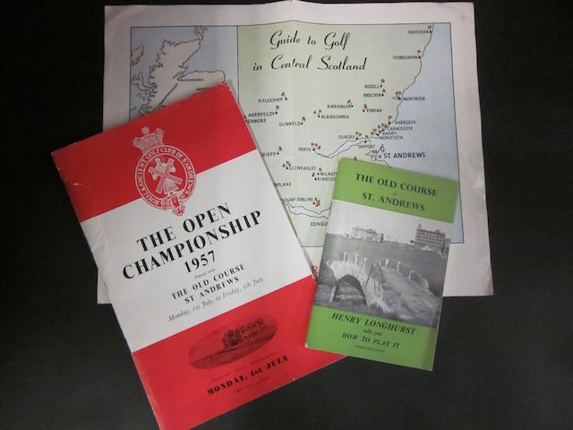 1957 Open programme and Henry Longhurst pamphlet