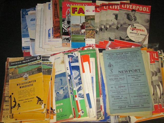 A collection of 1930's to 1960's miscellaneous football programmes