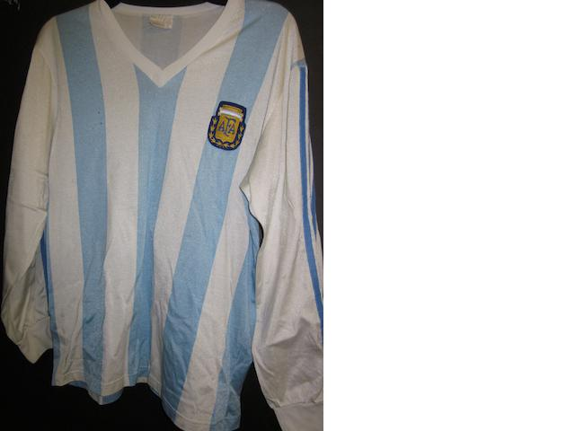 David Bisconti match worn Argentina shirt