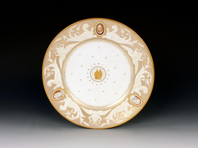 A Kerr and Binns plate from the Shakespeare Service, circa 1853