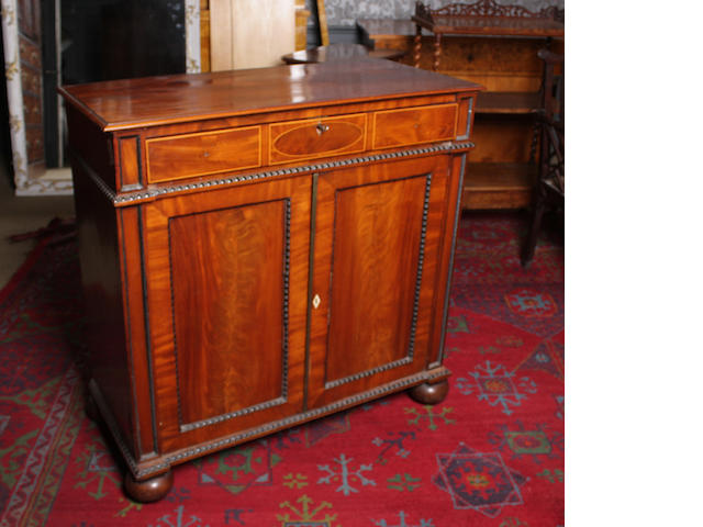 A Scottish George IV and later mahogany side cabinet