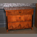 A Scandinvanian birch and karelian birch chest