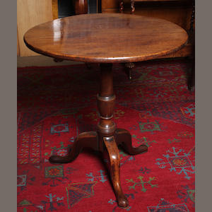 A George II mahogany snap-top wine table