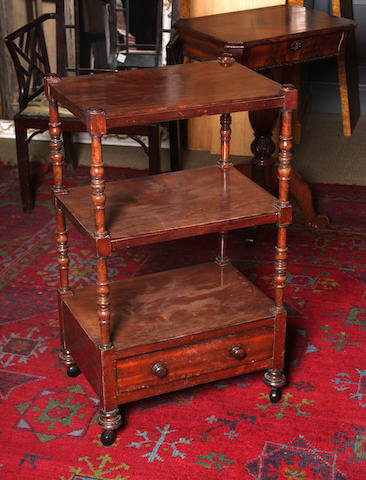 A Victorian mahogany three-tier what-not