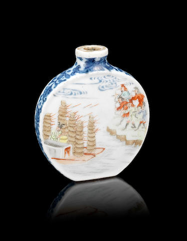 A famille rose snuff bottle Qianlong six-character mark