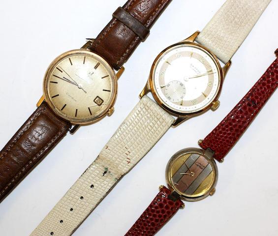 Three wristwatches,(3)