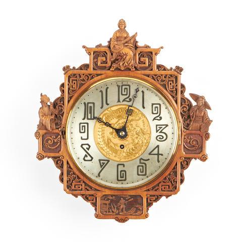 An Art Nouveau Japonais style wall timepiece