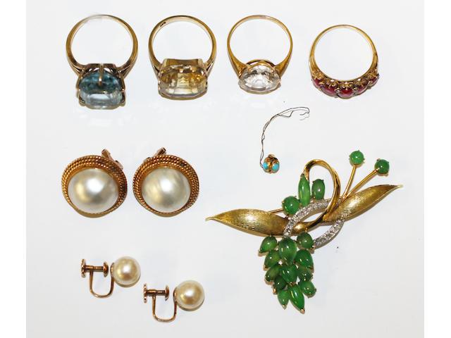 A collection of vari gem-set jewellery,