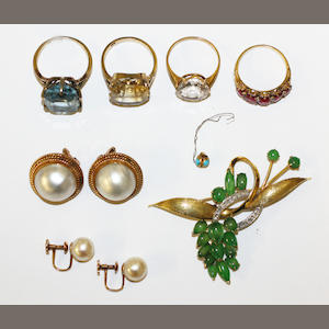 A collection of vari gem-set jewellery,