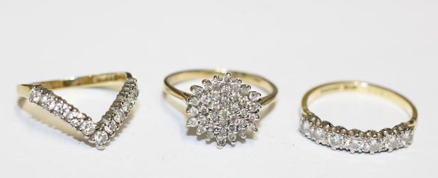 Three diamond rings,