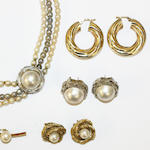 A collection of cultured pearl jewellery,