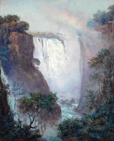 Pieter Hugo Naudé (South African, 1869-1941) Victoria Falls